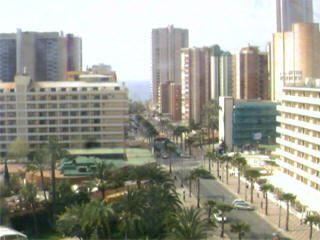 Benidorm town and beach webcam