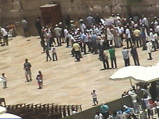 Wailing wall web cam view